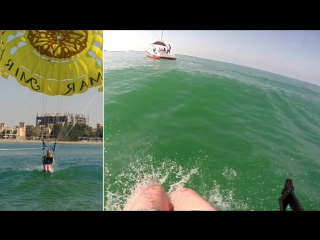 Parasailing in Ras Al Khaima UAE (January 2017)