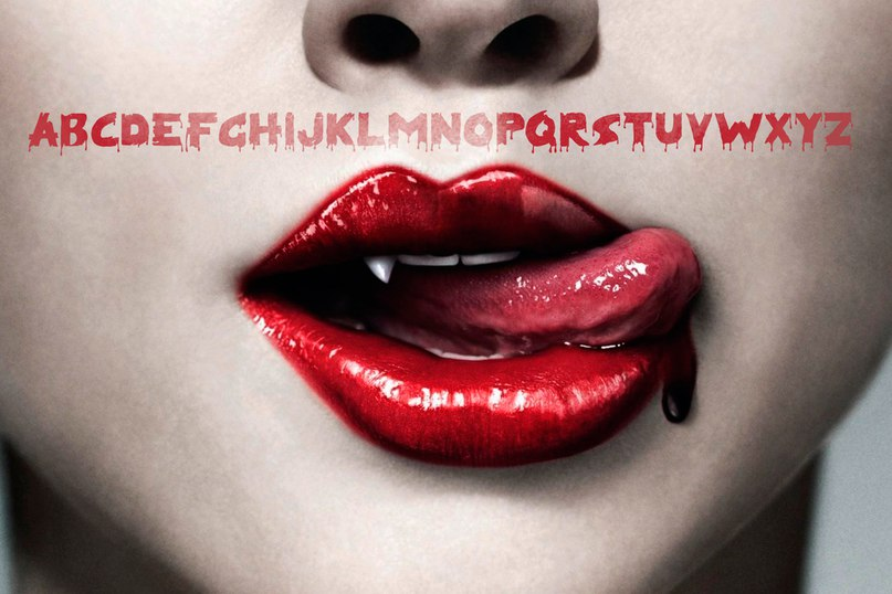 Download BLOODY ★ font (typeface)