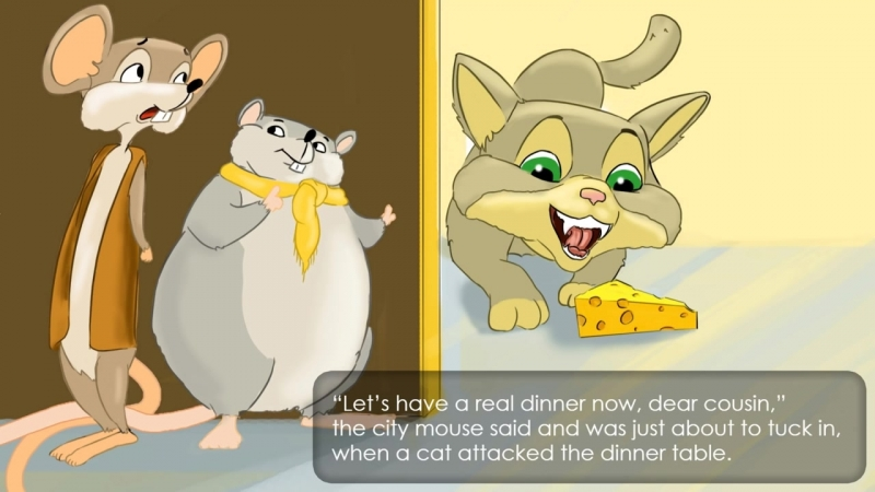 Городская мышка и деревенская мышка. The City Mouse and the Country Mouse.