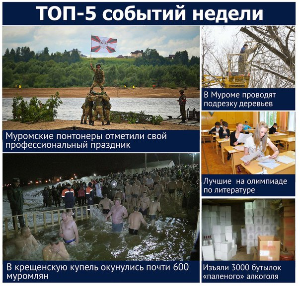 Новостной портал муром24.рф предлагает ТОП-5 наиболее важных и интерес