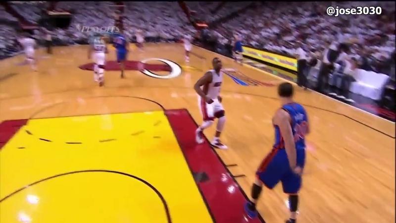 Dwyane Wade Throws Mike Bibbys Shoe Into First Row - 2012 NBA Playoffs