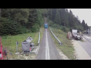 Жёсткий краштест грузовика