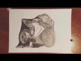 Реалистичный рисунок мотоцикла MV Agusta F3.