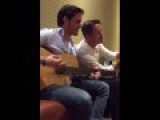 Colin O'Donoghue and Sean Maguire singing