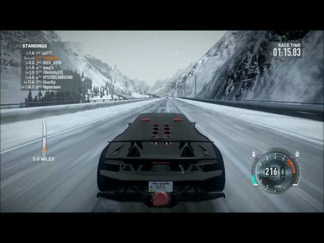 NFS The Run - Lamborghini Sesto Elemento - Snow - i7 2600K - XFX HD 6870