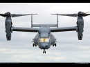 The US Marines Hybrid Transformer Helicopter Plane in Action Bell V-22 Osprey