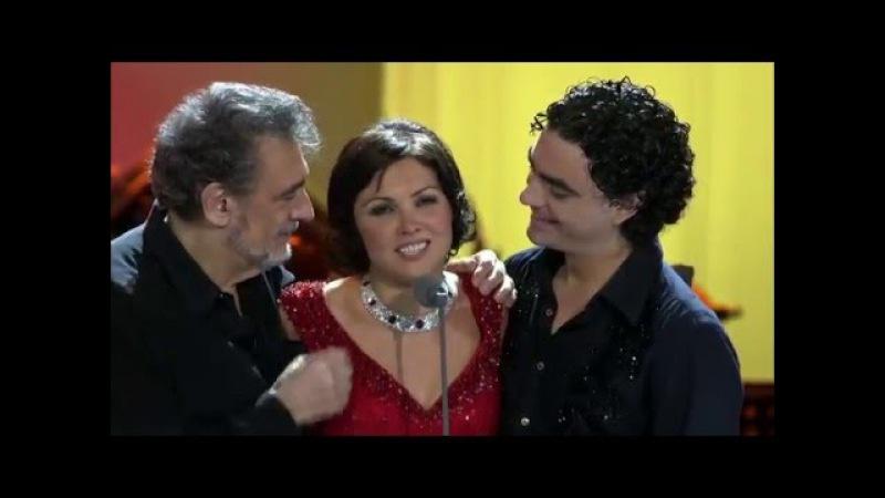 Anna Netrebko, Placido Domingo, Rolando Villazon - La Traviata Brindisi Dein ist mein ganzes Herz
