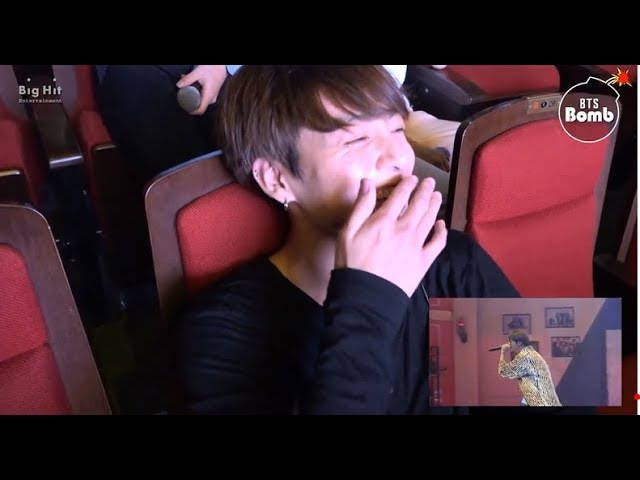 BTS reaction to JIN rapping NEVERMIND SUGA singing AWAKE
