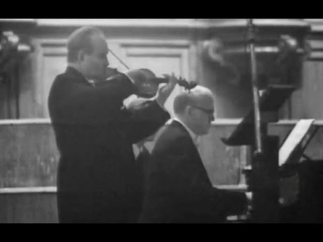David Oistrakh Sviatoslav Richter play Brahms, Bartok, Prokofiev, Schubert, Beethoven - video 1972