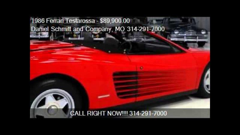 Daniel Schmitt Co Presents 1986 Ferrari Testarossa Straman Convertible