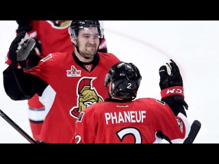 Senators rally late against Bruins, tying the series at 1's