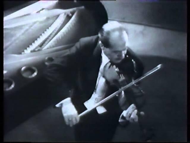 La Fontaine d'Aréthuse film, concert version 1936. Jacques Thibaud Tasso Janopoulo