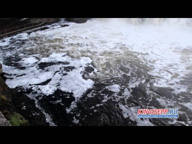 Такого в Европе не увидишь! ЭКСКЛЮЗИВ: водопады в Ивангороде. KINGISEPP.RU