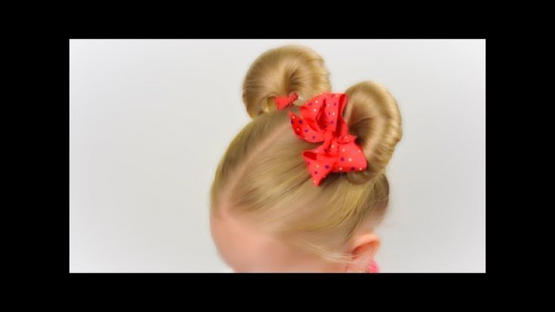 Minnie mouse ears hairsyle. Party hairstyle 6