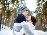 Денечек, скажем так был не самый теплый , но для легкой, зимней прогулочки Алексея и Евгении самое то!