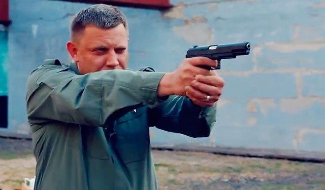 Захарченко протестировал пистолет производства ДНР