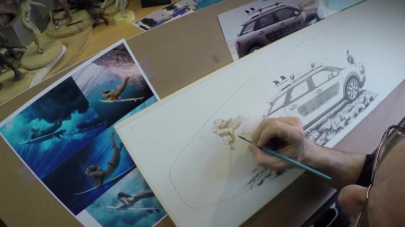 Уявлення митців про пригоди з Citroën C4 Cactus Rip Curl