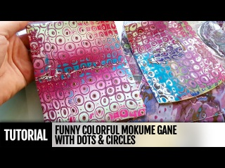 DIY How to make Funny Colorful Mokume Gane with Dots Circles! FREE Video TUTORIAL