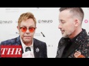 Sir Elton John David Furnish on Why They Throw The Annual Oscar Party | THR