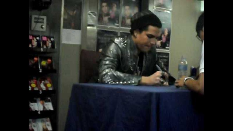Adam Lambert- Instore signing!