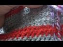 Теплая юбка крючком в технике имитация тканого полотна
