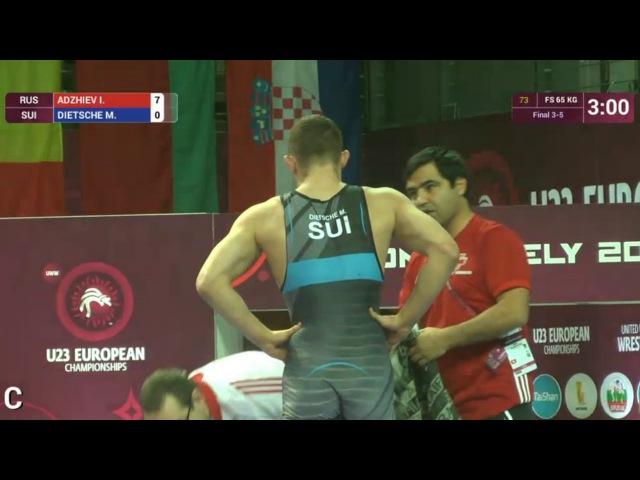 65кг BRONZE Imam ADZHIEV (RUS) vs. Marc DIETSCHE (SUI)