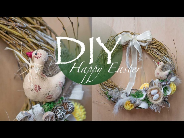 Со светлым праздником Пасхи , пасхальный венок DIY Tsvoric