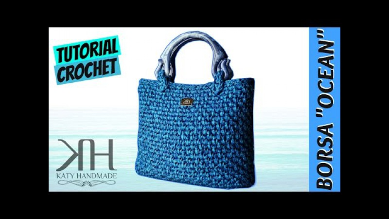 [BORSE] Tutorial uncinetto borsa Ocean | Crochet bag || Katy Handmade