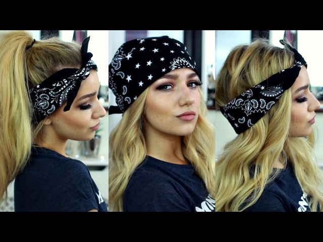 PIA MIA KYLIE JENNER INSPIRED BANDANA HAIRSTYLES / HAIR TUTORIAL
