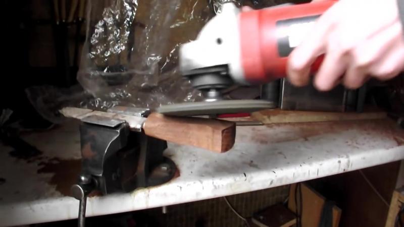 Viking knife (burning handle) _Нож Викинг (Обжиг рукояти)