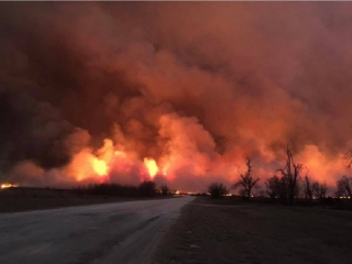 Wildfires in the texas panhandle have consumed about 500 square miles and killed at least 4 people, authorities say.