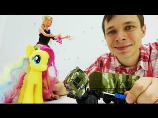 Видео с игрушками. Собираем КАМАЗ. Мультик про машинки для мальчиков