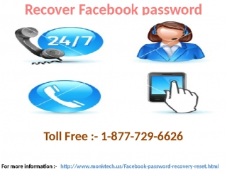Opt Facebook Reset Password Services By 1-877-729-6626 To Regain Lost Password