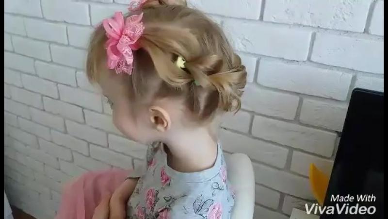 Косичка на короткие волосы