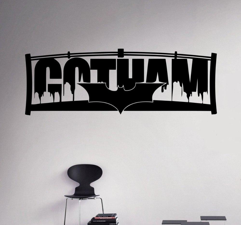 Виниловая наклейка на стену Gotham