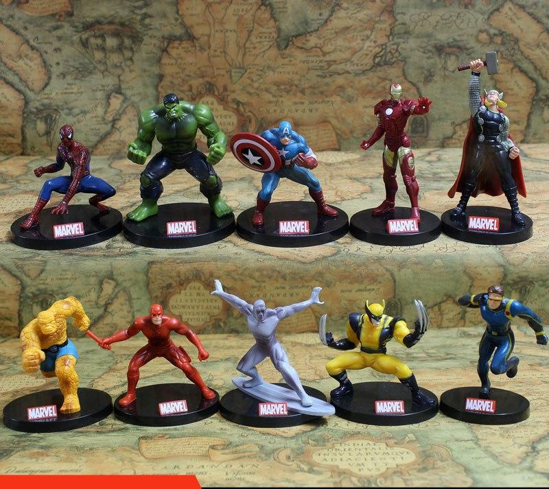 Комплект из 10-ти супергеройских фигурок