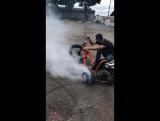 burn out Motorized trike
