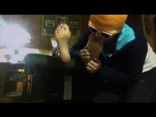 Hockey boy feet