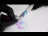 Эффект ВАУ- Светящийся в темноте дизайн ногтей - Летний маникюр с одуванчиками - Градиент пигментами (1)