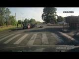 Авария с мотоциклом на ЗСКМ в Новокузнцеке