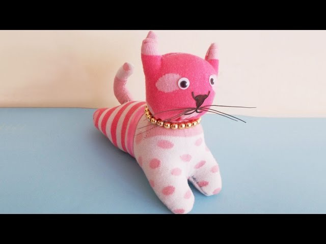 Easy Sewing Project : How to Make DIY Stuffed Cat Toy From Socks | DIY Socks Crafts Toy Making