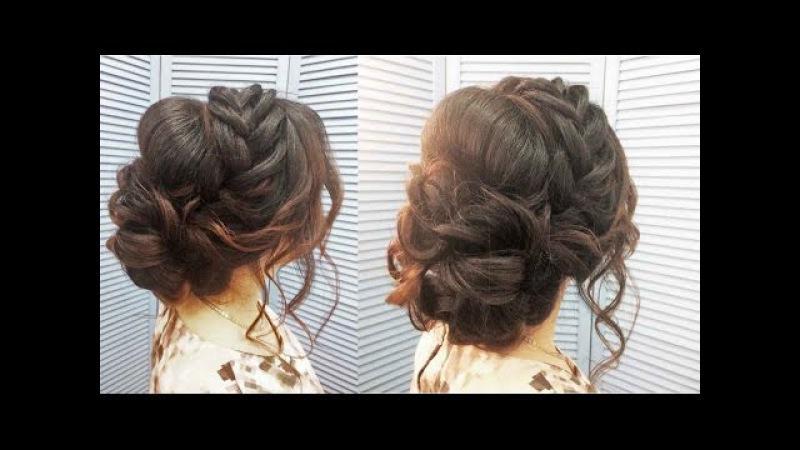 Свадебная прическа вечерняя прическа на выпускной Wedding evening prom hairstyle