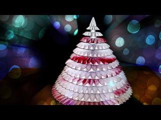 Креативная Идея Для Новогодней Поделки Из Бумаги. Оригами Елка Своими Руками