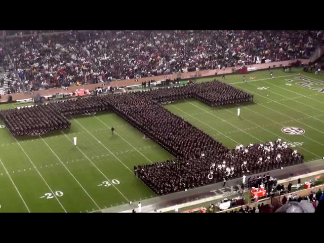 Fightin Texas Aggie Band Halftime Drill - Missouri Game at Kyle Field on November 15, 2014