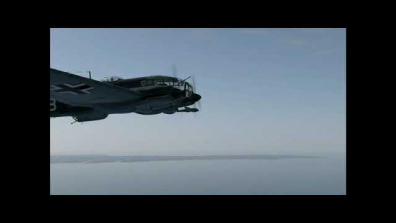 Ил-2 Штурмовик: Битва за Британию. He-111H-2. Сервер - ATAG. Боевой вылет 04.08.2016 г.
