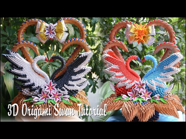 Live How to Make 3D Origami Wedding Swans | DIY Paper Couple Swans Handmade Decoration