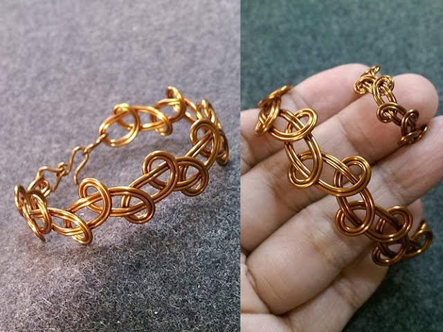 Simple knot bracelet handcrafted copper jewelry 236