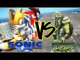 Sonic The Hedgehog And Sonic The Hedgehog Characters Charter Vs Teenage Mutant Ninja Turtles