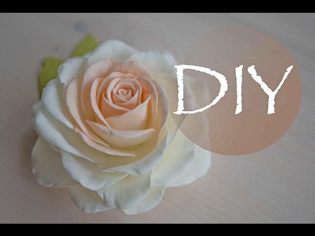 Реалистичная роза из фоамирана , цветы из фома Tsvoric