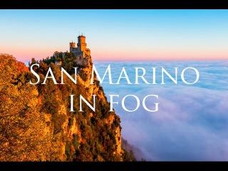 San Marino in fog - A timelapse short film - 4K